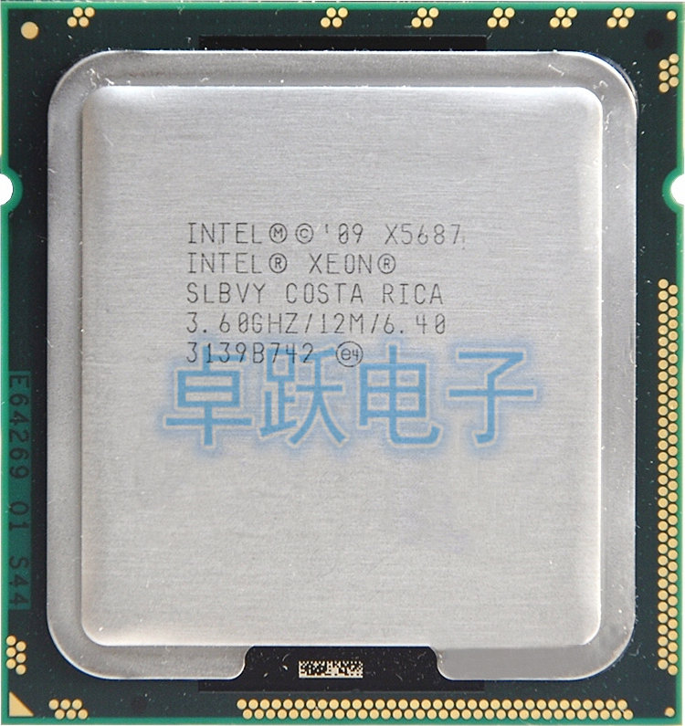 Bảng giá Intel Xeon X5687 processor (3.6GHz/12MB/4 cores/Socket 1366/6.4 GT/s QPI)Original Server CPU free shipping Phong Vũ