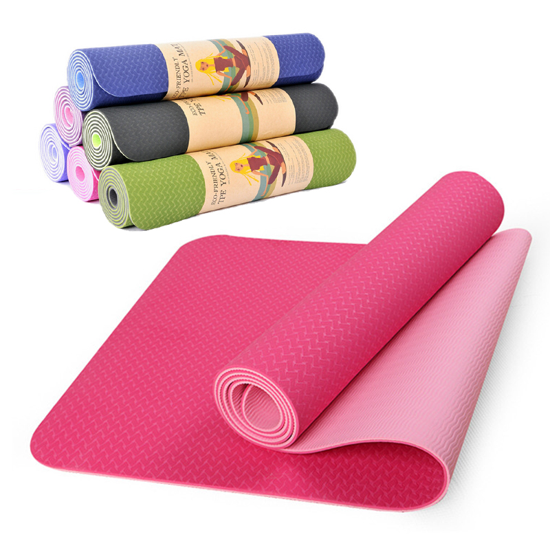 High Quality Tpe Yoga Mats Fitness Environmental Tasteless