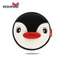 NOHOO Haute Qualité Étanche Animaux Épaule Sac 3D Pingouin Imprimé Sac À Main Petite Circulaire Bande Dessinée Enfants Bébé Sacs