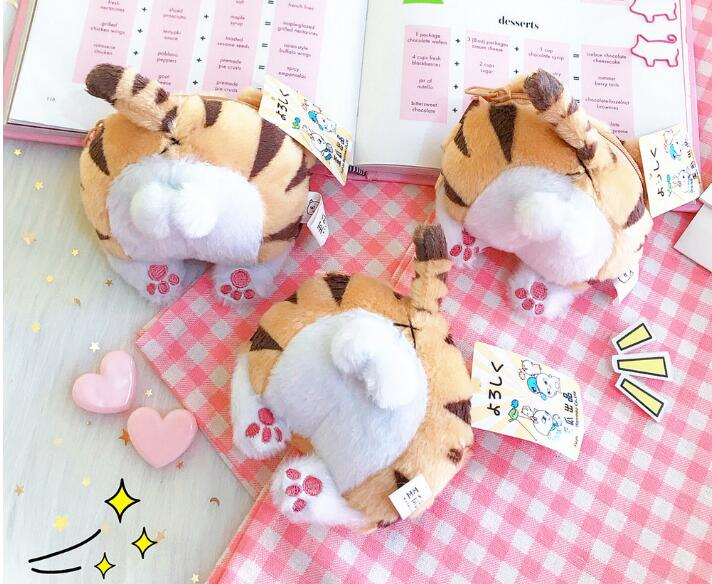 10PCS/Lot Novelty Cat Fashion Bottom Coin Purse Plush Mini bag Cat Ass Wallet Plush ,For Girls Best Christmas Gift Toys new