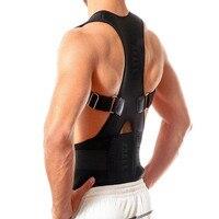 Professional для мужчин женщин Регулируемая Магнитная терапия осанки корректирующий ремень плечо назад защиты талии и сзади