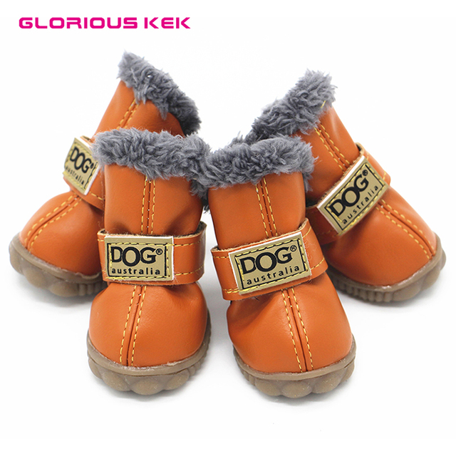 Dog Shoes Winter Waterproof Small Dog Shoes Fleece-Lined Warm Dog Snow Boots  Soft Rubber Sole Anti-Slip PU Suede Chihuahua Shoes a2bb4cebb