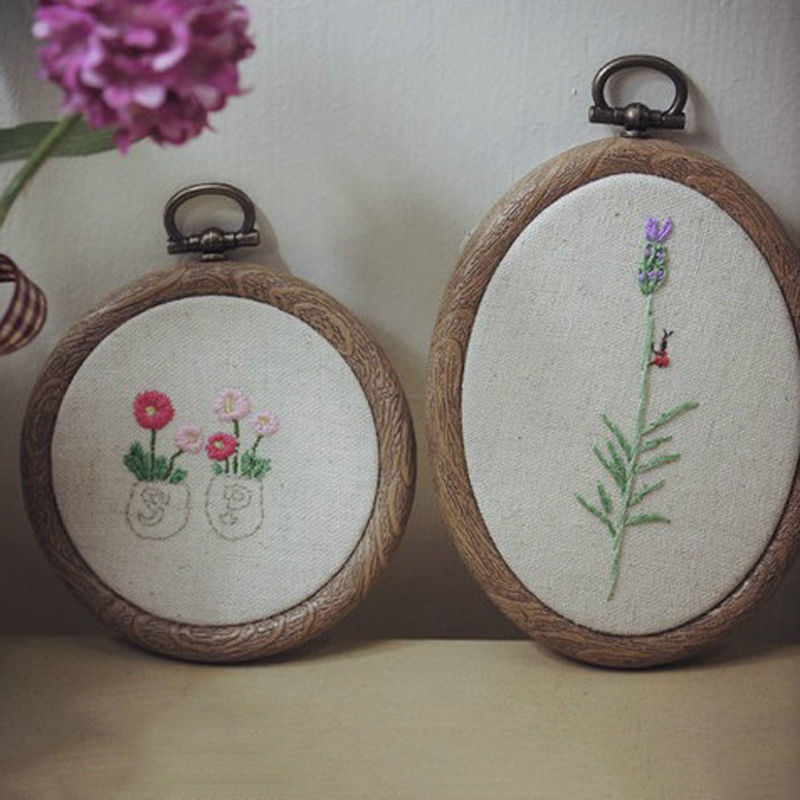 12 25cm Cross Stitch Machine Bamboo Frame Embroidery Hoop Ring Round ...