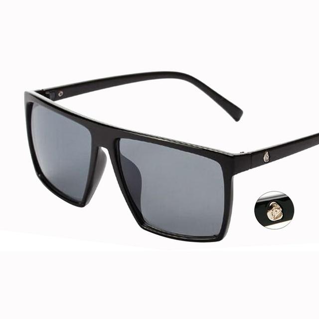 Le cadre épais carré des hommes classiques rétro a polarisé des lunettes UV400 de lunettes de soleil FTYg4M