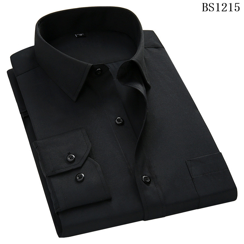 HTB1 9yCXQCy2eVjSZPfq6zdgpXax - Plus Large Size 8XL 7XL 6XL 5XL Mens Business Casual Long Sleeved Shirt Classic