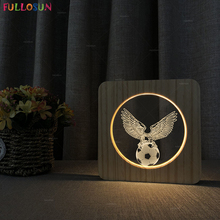 3D Football Lamp Warm Color Sleeping Nordic Style Room Nightlights as Daddy or Boyfriends Gift