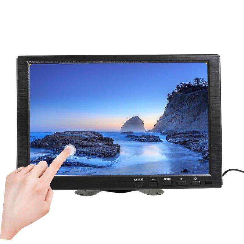 10.1 Polegada 1280x800 lcd touch mini display de computador tela led 2 canais entrada vídeo monitor segurança com alto-falante vga hdmi