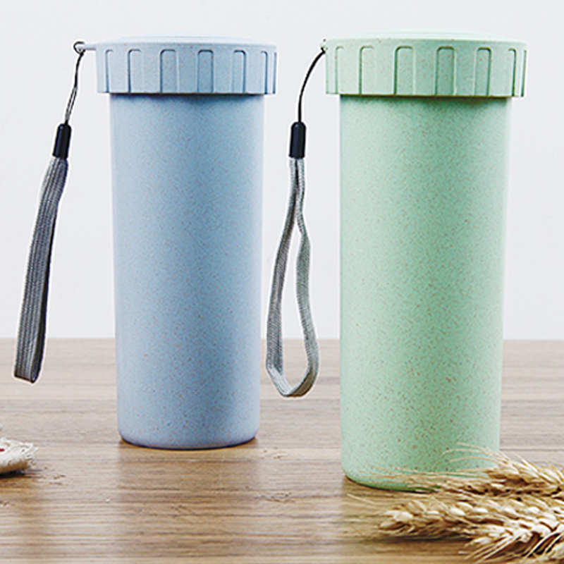 400ML My Bootle Wheat Fiber Bottle Straw Waret Kettle Simple With Lid Fashion Juice Tea Coffee Readily Lightweight Portable New ...
