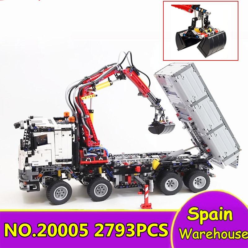 20005 2793Pcs Motor Power Mobile Crane Building Blocks City Technic Truck 42043 Gift Technical Toys Bricks