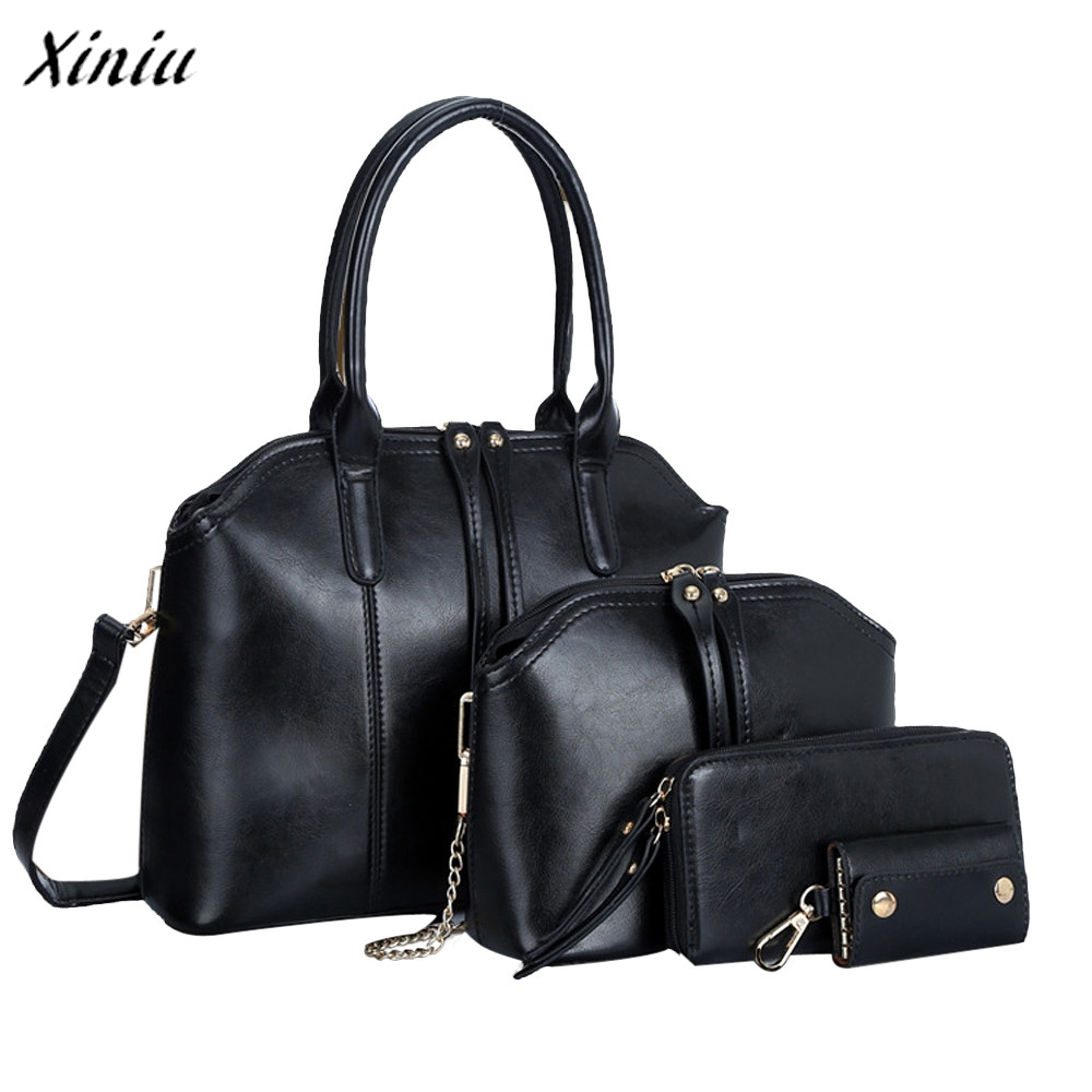 New Fashion Women's Handbag Shoulder Bag Leather Messenger Bag Satchel Tote Purse High Quality Three Bag Bolsos Mujer Vintage romanson tm 1256 mj wh