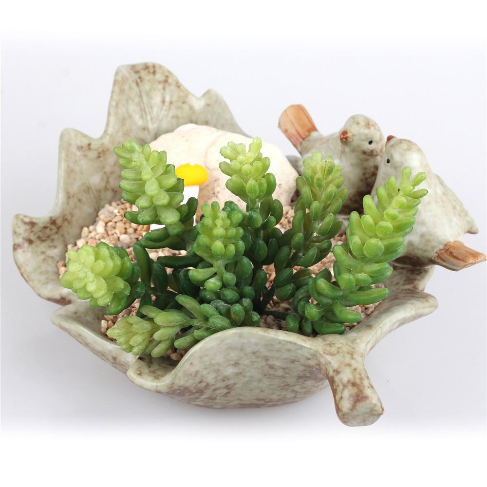 Товары для птиц и листьев Керамика суккулент цветочный горшок Цветочный Горшок Кашпо Горшки для проращивания