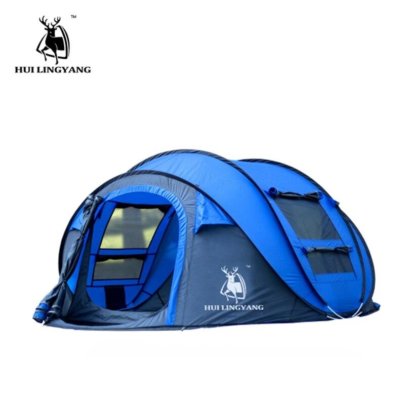 Tente extérieure 3-4persons automatique vitesse ouvert jeter pop up coupe-vent étanche plage camping tente grand espace étanche cA