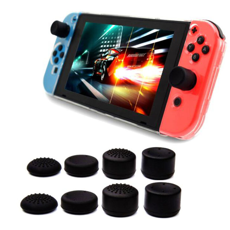 8pcs Silicone Extra Higher Analog Thumb Stick Grip Cap Joystick Cover For Nintend Switch Lite NS Mini Joy-Con Gamepad Controller