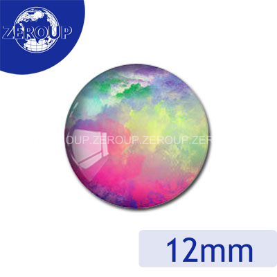 ZEROUP 20pcs/lot 12mm 20mm 25mm 30mm DIY Handmade Round Photo Glass Cabochon Dome Jewelry Finding  Settings Pattern Flat Back