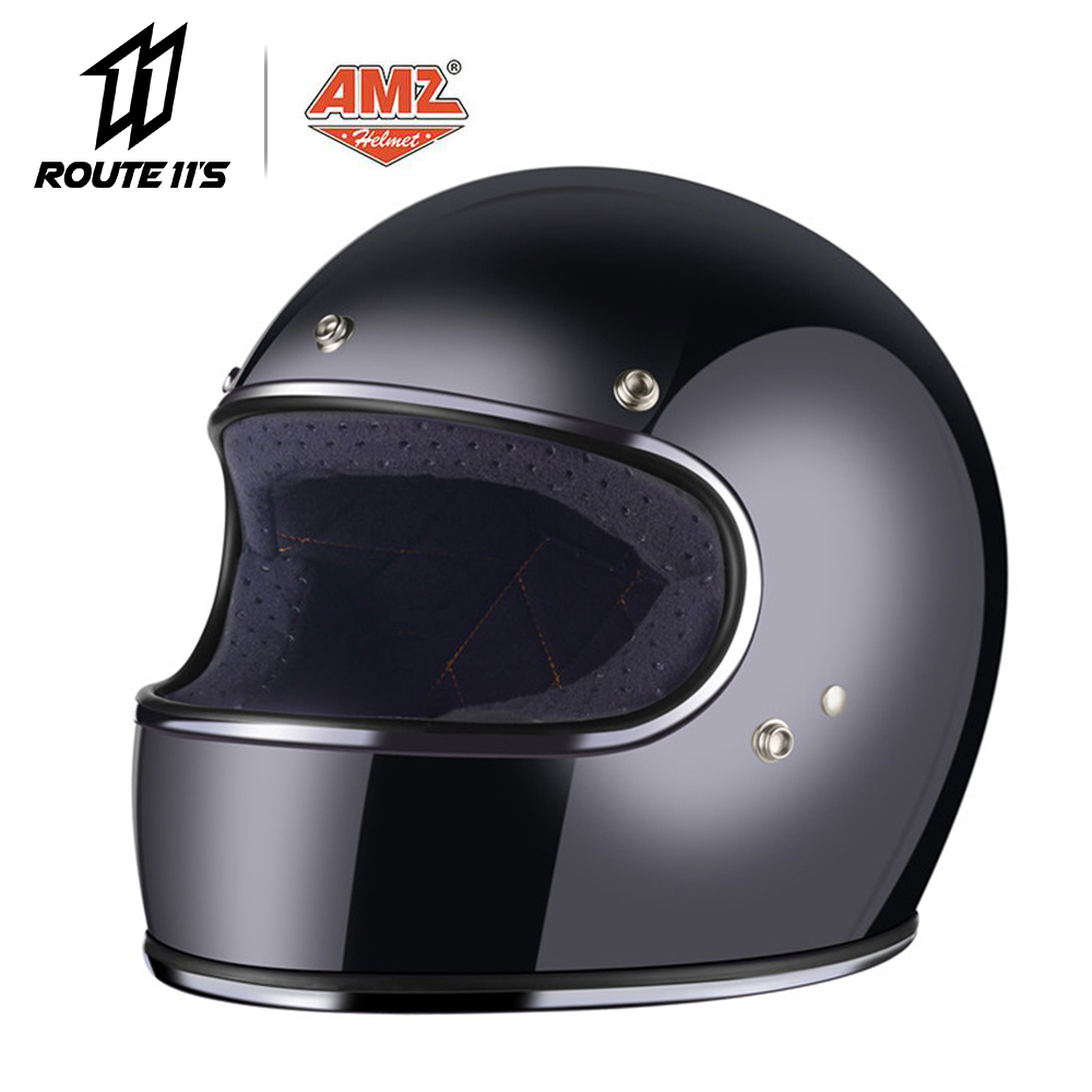 AMZ Casque de Moto Vintage rétro Casque de Moto Face ouverte Casque Casco été hommes Cascos Para Moto avec point de pare-soleil intérieur