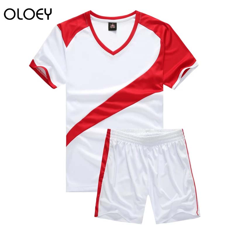 Mens Sport Suits Summer Men's Outfits Two Piece Set Men Soccer Jersey Set T-shirt Shorts Training Track Suits Joggers Set Male