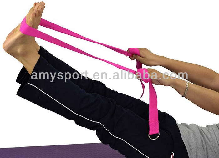 173cm Yoga belt Stretching Strap D Ring Pilates Exercise Gym Belt in Yoga Belts from Sports Entertainment