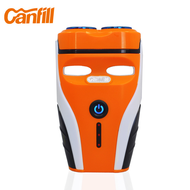 Canfill New Cordless Electric Shaver Waterproof Face Beard Trimmer Men's Shaving Razor Rechargeable USB Fast Charge CF-201