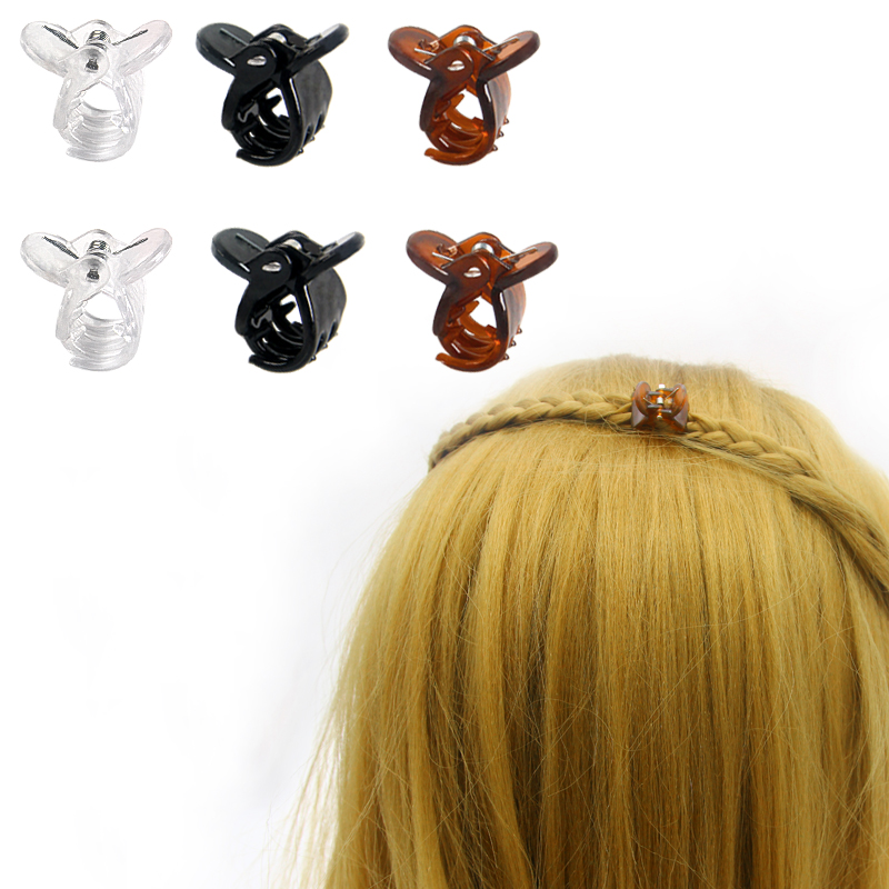 Cute Small Hair Clips Claw For Girls Accessories 3 Solid Color Mix Mini Kids Childrens Crabs 20pcs/set