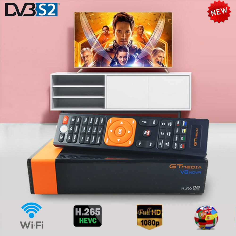 Gtmedia V8 NOVA Von Freesat V8 Super Satellite TV Empfänger DVB-S2 für 1 Jahr Europa cline Gebaut Wifi Dongle Hohe qualität Stabil