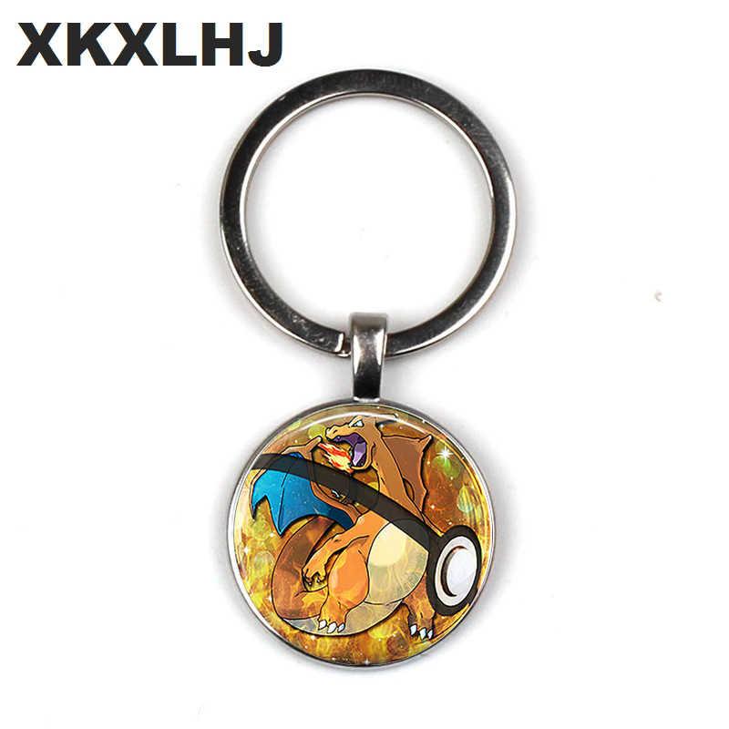 Novo chaveiro pokemon pikachu pokeball chaveiro chaveiro chaveiro chaveiro feminino anime jóias