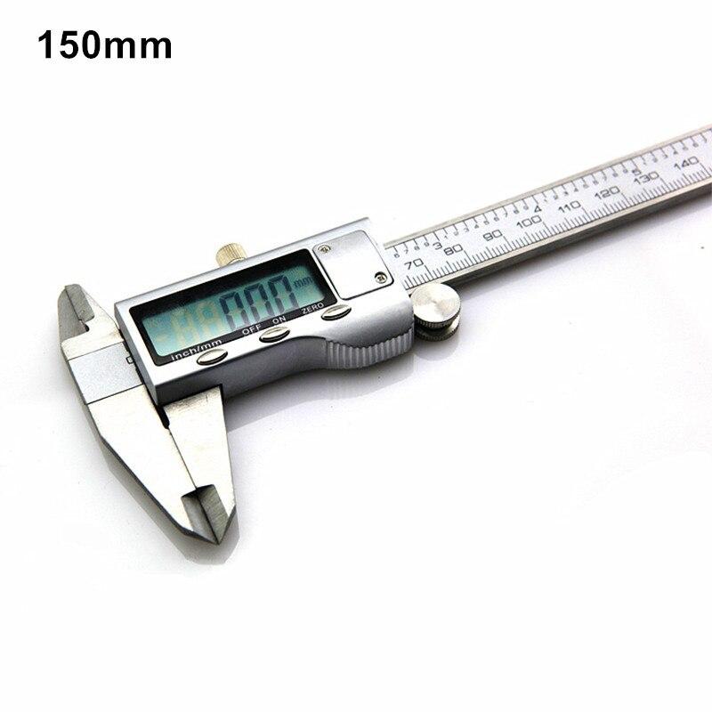 stainless steel digital caliper industrial grade 150mm vernier caliper inner outside depth measuring instrument precision 0.03mm  цены