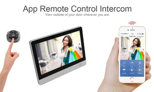 "Image 3 - WiFi Digital Peephole Door Viewer   Willful 7"" LCD Touch Screen Front Door Peephole Camera Wifi Doorbell with Intercom silver"