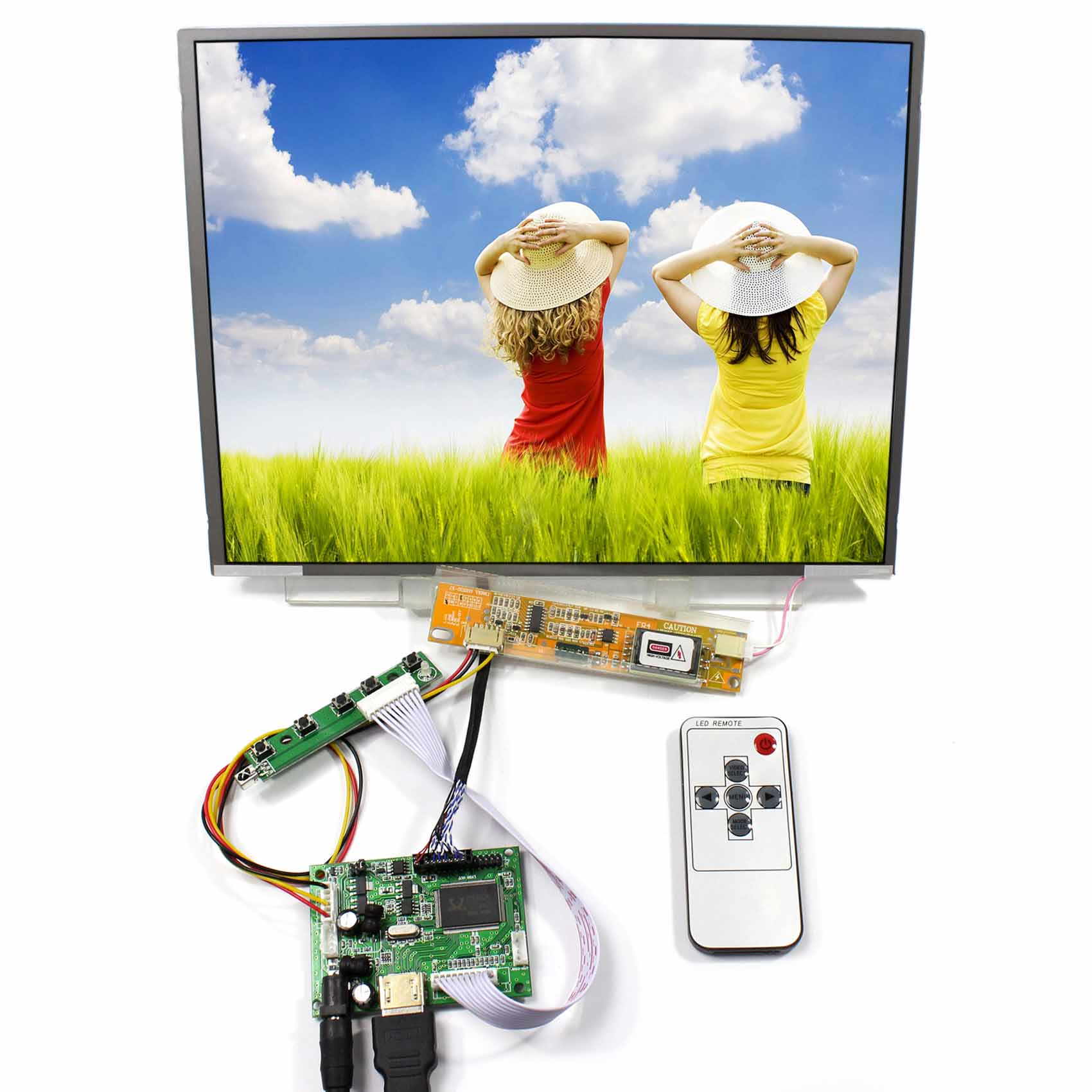 HDMI LCD Cotntrol Avec 12.1 pouces 1024x768 LTN121X01 N121X5 Écran LCD