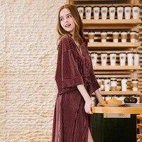 Autumn Winter Women Nightgown Soft Flannel Plush Long Sleep Thermal Sleepwear Dress Women Nightie Home Clothes Vestido L452