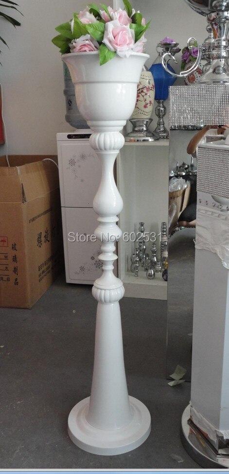 SPR 110 см высокий новый! Белый Свадебный Настольный цветок Подставки/Цветочная ваза для свадебное украшение для стола