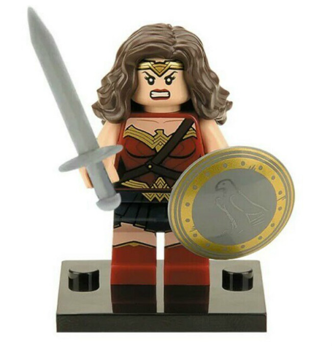 20 штук XH 222 здания Конструкторы Super Heroes Wonder Woman дезстроук Красная Шапочка Джейсон aqua Man Бэтмен Лекс Лютер Кирпичи Детские игрушка