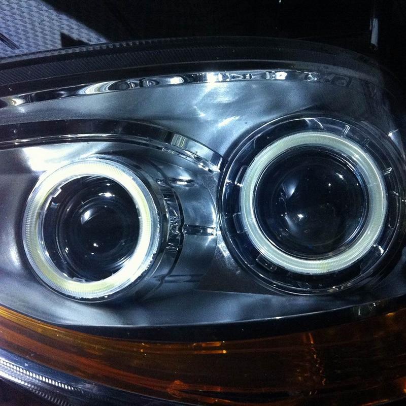 2stk Halo Ringe Angel Eyes Biltilbehør biler DRL projektorlinser til - Billygter - Foto 5