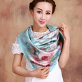 2016 New Upscale Independent Designer China Twill Large Square Silk Scarf Shawl with Digital Printing for Women
