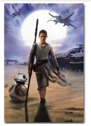 REY - Star Wars 7 The Force Awakens Movie Art Wall Decor Silk Print Poster image
