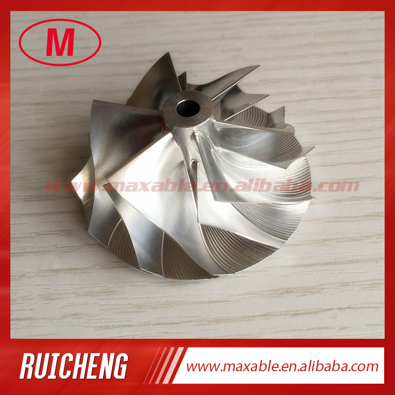TD04HL 19T 46 02 58 00mm 6 6 blades 49189 X BILLET Turbocharger Billet milling aluminum