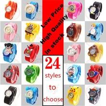 2016 New Famous Brand Children Jelly Cartoon Watch Children Q Version Quartz Watch Kids Casual Watches Relogio Feminino Clock