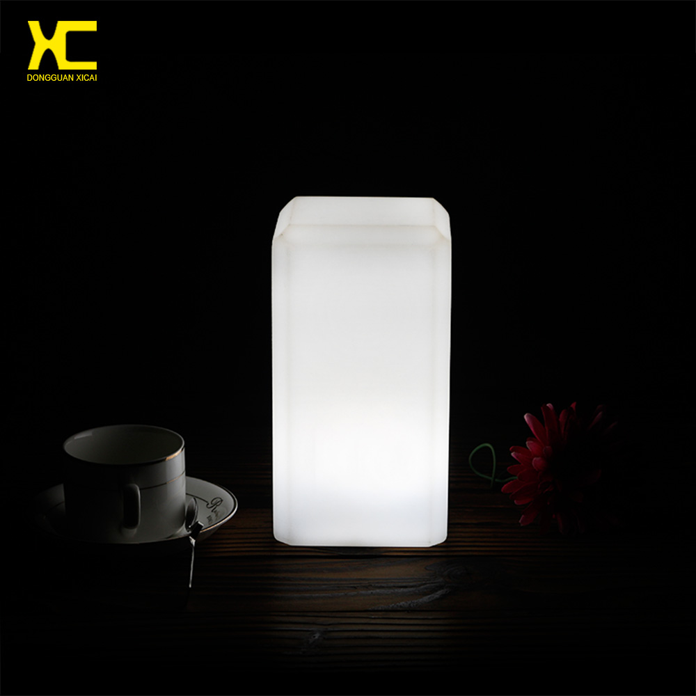 Chargeable remote control led bar table lamp night club decoration illuminate cordless light in - Remote control night light ...
