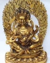 28 «Огромный Бронзовый Свинка 4 Arms Махакалы Будда Джосс Jambhala Статуя Phurpa Кинжал