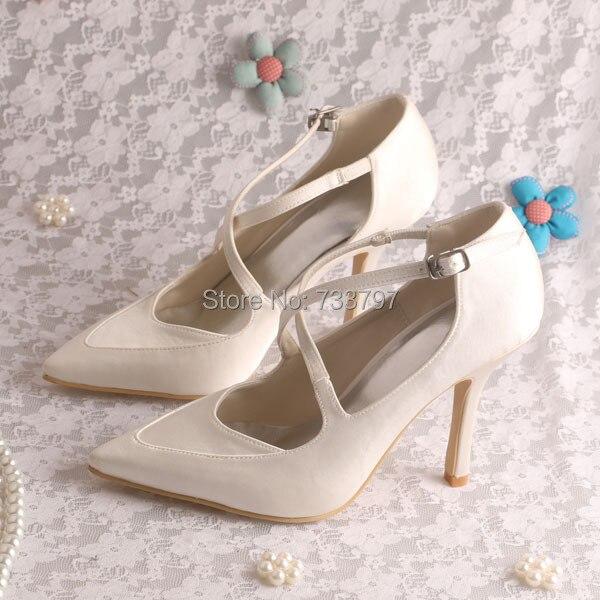 ФОТО Wedopus MW896 Custom Handmade Italian Style Thin Heel Women Wedding Shoes Pointed Toe