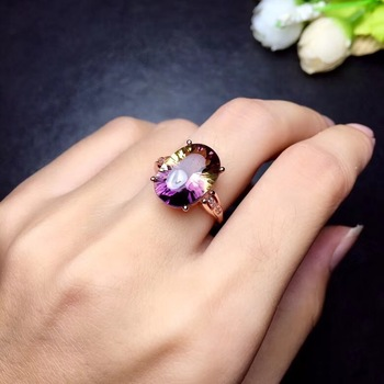 Super beautiful ring Natural amethyst lady ring, 925 silver, novel craftsmanship, beautiful colors.