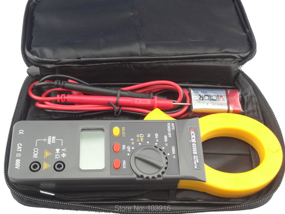 Free shipping Digital Clamp Meter , clamp multimeter, DC/AC 1000A AC750V DC1000V Power 9V brand new professional digital lux meter digital light meter lx1010b 100000 lux original retail package free shipping