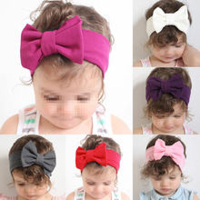 Fashion Toddler Girls Kids Headband Baby Girl Big Bow Hairband Stretch Turban Knot Turbans Accessoire red yellow