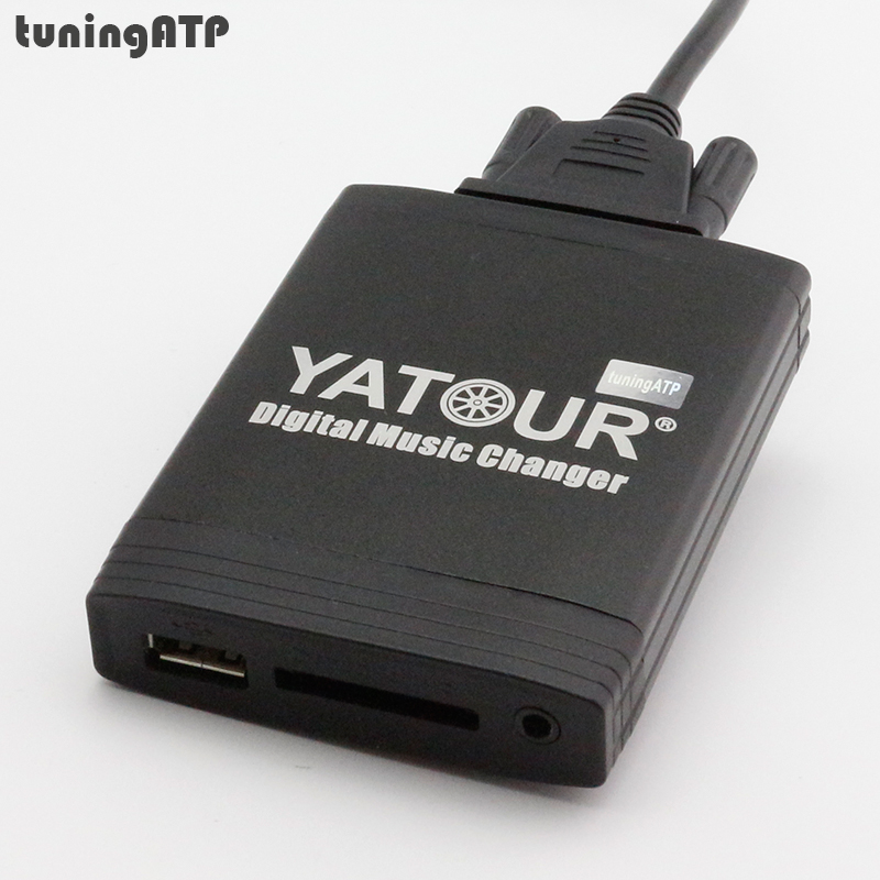 YATOUR Digital Music Changer AUX-IN SD USB MP3 Adapter for Peugeot RD3 / RB3 / RM2 Radios yatour digital music car audio cd changer mp3 player usb sd bluetooth for rd3 peugeot citroen rb2 rm2 van bus mp3 adapter