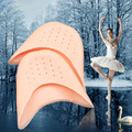 One pair silicone gel pad for ballet dancing foot care toe pads cover soft relieve foot care pain forefoot cushion friction