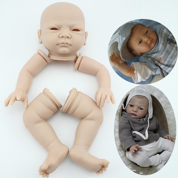 22inch Reborn Doll Kit DIY Silicone Vinyl Realistic Doll Body Parts Lifelike Newborn Baby Mould Unfinished Unpainted Blank Mold
