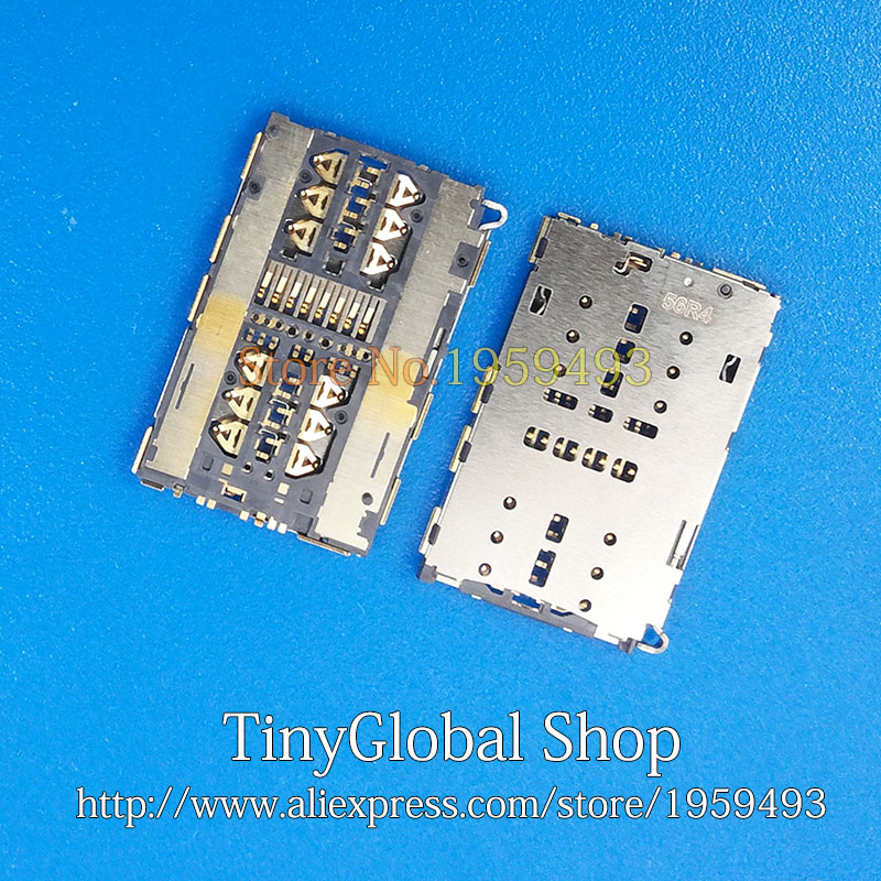 2pcs/lot XGE New replacement for Huawei Mate S mateS CRR-UL00 4G SIM Card Reader Holder Connector Socket Slot