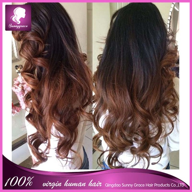 7a Brazilian Hair Body Wave Full Lace Human Hair Wigs Ombre