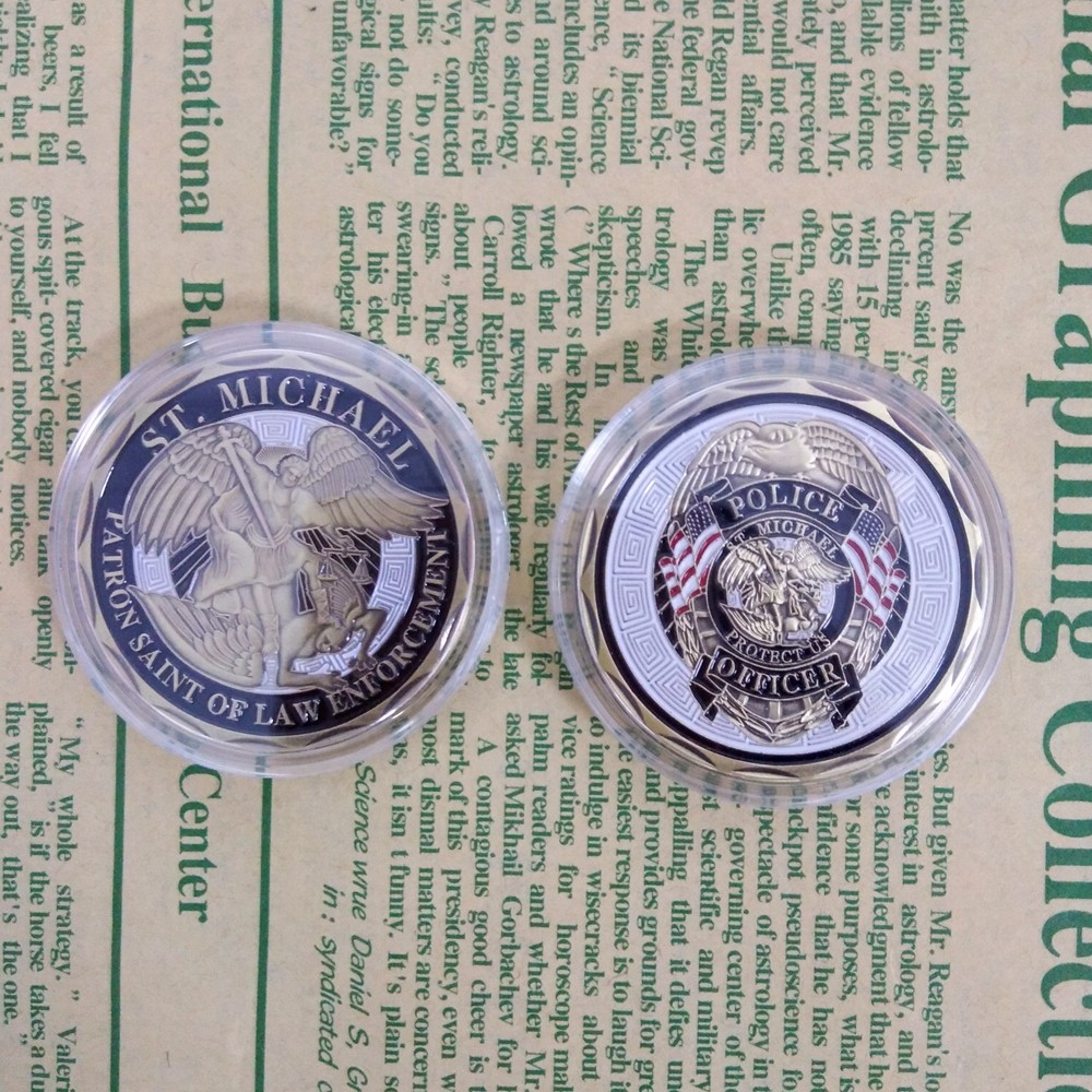 1pc New Arrival Police Officer St Michael Patron Saint Of