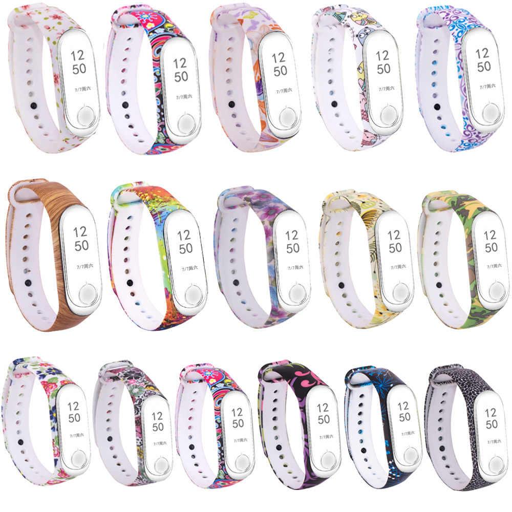 Mi Band 3 Strap Pattern Replacement Band For Xiaomi Mi Band 4 Silicon Sport Watch Bracelet Xiaomi Mi 4 Fitness Wristband Kids Smart Accessories Aliexpress