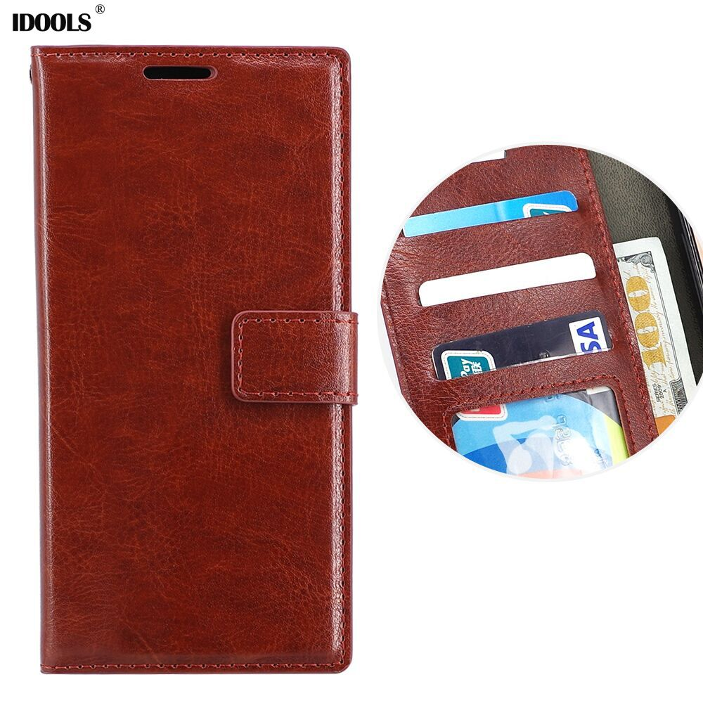IDOOLS Honor 8 Case Leather Dirt Resistant PU Cover Phone Bag Cases for Huawei Honor 10
